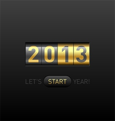New Year counter vector image vector image