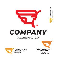 Pharaoh logo modern simple and clean identity vector
