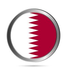 Qatar flag button vector