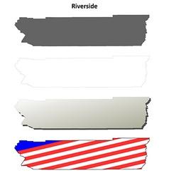 Riverside county california outline map set vector