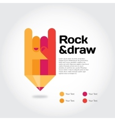 Rock-draw vector image