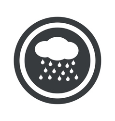 Round black rain sign vector image