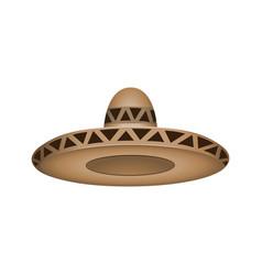 sombrero fashion brown hat modern elegance cap vector image vector image