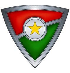 steel shield burkina faso vector image vector image