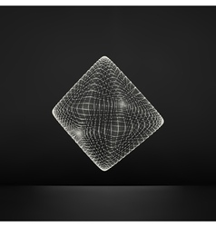Transparent octahedron wireframe object vector