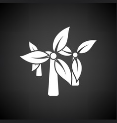 Wind mill leaves in blades icon vector