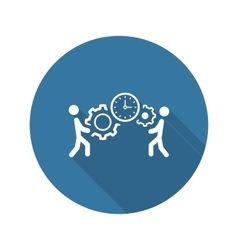 Project Management Icon Flat Design vector image
