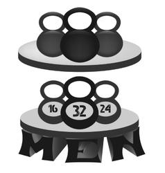 A set of monochrome fitness emblems vector image