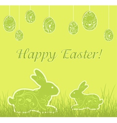 Easter eggs rabbits vector