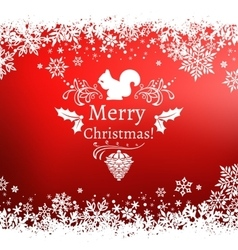 red Christmas greetings vector image