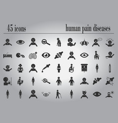 body pain and general illness symptoms in human vector image