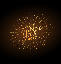 Happy new year 2017 celebration background in vector