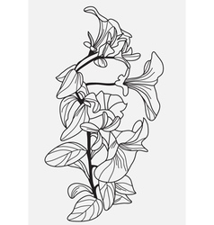 Decorative viola flower vector