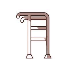 elderly walker isolated icon vector image