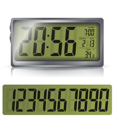 Alarm clock  retro liquid-crystal alarm vector