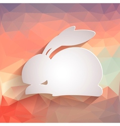 Happy easter rabbit bunny vector