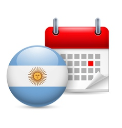 Icon of national day in argentina vector
