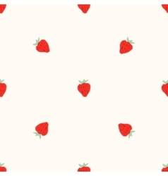 Seamless natural color pattern of strawberries vector