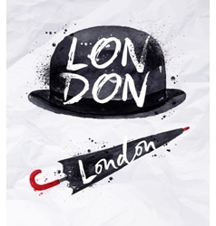 London signs umbrella vector