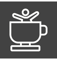 Tea cups ride vector