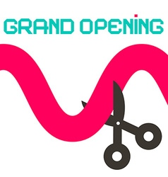 Grand opening ribbon with scissors vector
