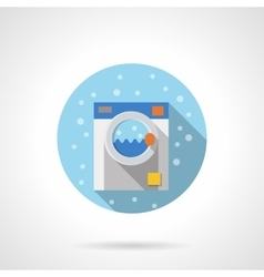 Laundry equipment round flat color icon vector