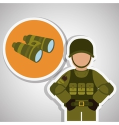 Military binoculars design vector