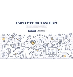 Employee motivation doodle concept vector