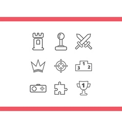 icons game set vector image