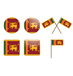 badges with flag of Sri Lanka vector image
