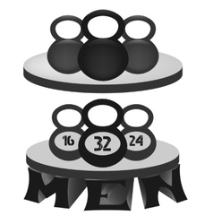 A set of monochrome fitness emblems vector image