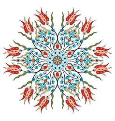 Antique ottoman turkish pattern design eighty nine vector
