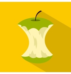 Apple core icon flat style vector