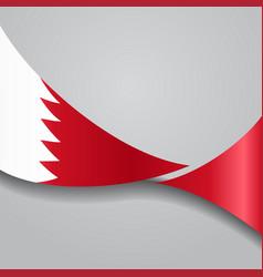 Bahrain wavy flag vector
