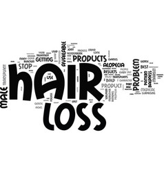 Best male hair loss products text word cloud vector