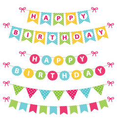 birthday banners set vector image vector image