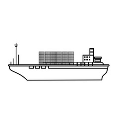 Boat transport commodity vector