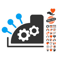 Cash register icon with dating bonus vector