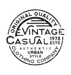 casual vintage stamp vector image vector image