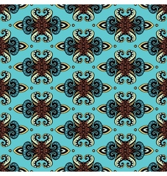 Damask wallpaper seamless pattern vector image