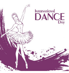 dance day ballet vector image