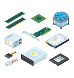 different hardware parts and components of vector image vector image