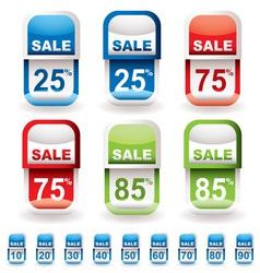 discount tag sale vector image