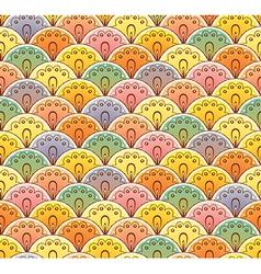 Fan multicolor seamless pattern vector image vector image