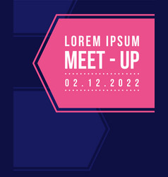 Geometric cover design card style for meet up vector
