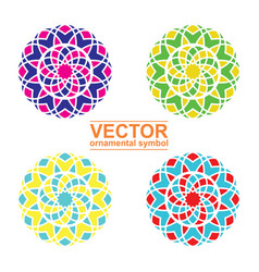 Geometric logo template set vector