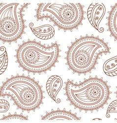 Henna tattoo mehndi style seamless background vector image
