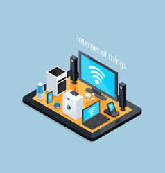 Internet of things isometric poster vector