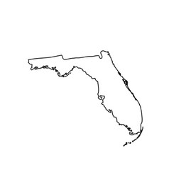 map of the us state florida vector image