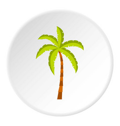 palm tree icon circle vector image